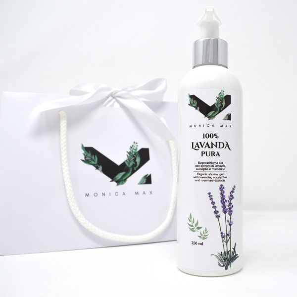 Organic shower gel with lavender, eucalyptus and rosemary extracts